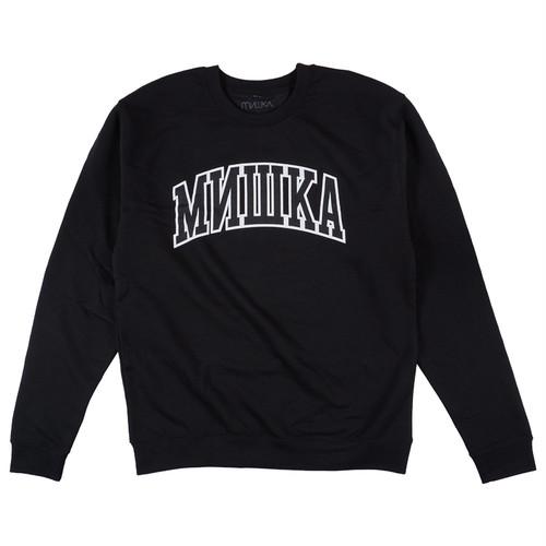 MISHKA CYRILLIC VARSITY CREWNECK (BLACK/FL171125)
