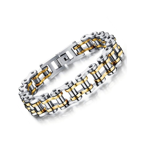 BICYCLE CHAIN BRACELET / GOLD