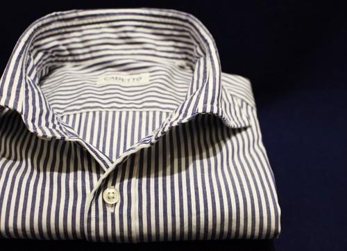 CADETTO ORIGINALS SHIRTS Pin-point Oxford Stripe Blue
