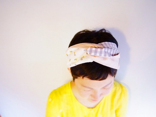 【order made】textile  ヘアバンド