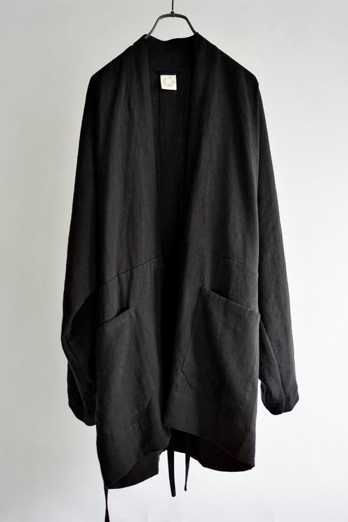 JAN JAN VAN ESSCHE - KIMONO#9 (BLACK BRUSHED LINEN CLOTH)