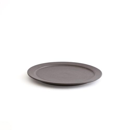 二川修/6寸リム皿 茶