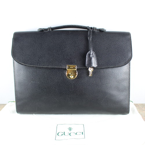 .GUCCI LEATHER BUSINESS BAG MADE IN ITALY/グッチレザービジネスバッグ 2000000046877