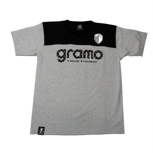 Tシャツ「tact2」(グレー×ブラック/T-023)