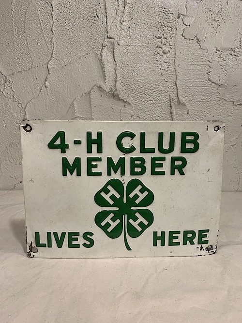 "COMPANY PLATE "" 4-H CLUB MEMBER LIVES HERE """