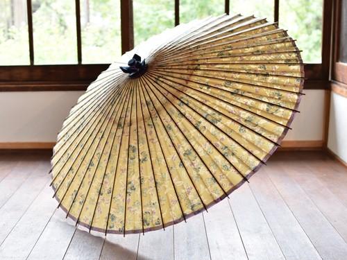 蛇の目傘 油彩 花柄