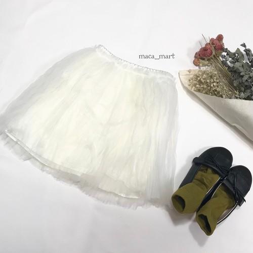 sale☆シフォンスカート(ホワイト130サイズラスト1点)