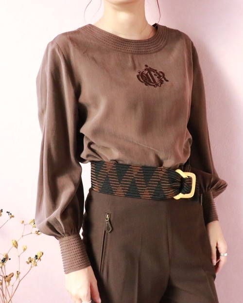 Christian Dior brown blouse