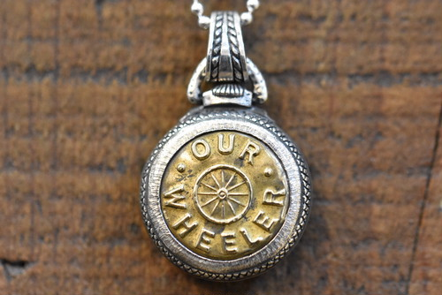 #18 Button Works x Larry Smith Work Button Necklace