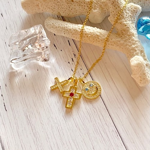 Smile Cross Star Neckless