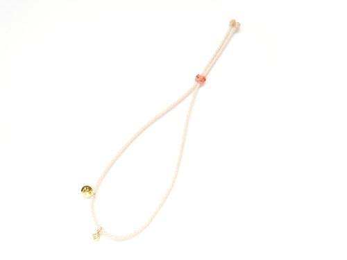 【チャームが選べる】Layered Charm Bracelet / White [チャームブレスレット]
