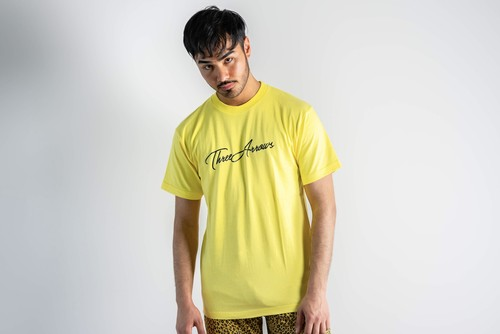 ThreeArrows Tシャツ(yellow × black)