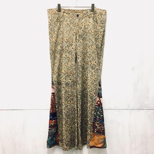 ethnic wide flare pants