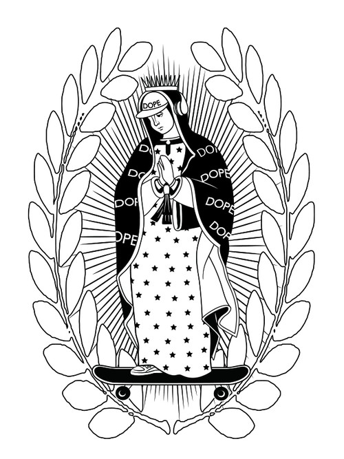 virgin mary at17 White