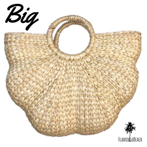 【FlamingoBeach】shell bag 大 カゴバッグ 54812