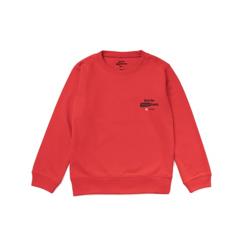 "TOYOTA ""HIACE"" Kids Summer Sweat Shirt - Red"