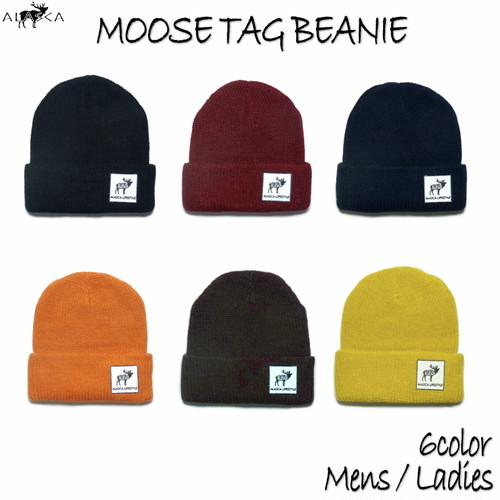 Moose Tag Beanie ALASCA moose as-44