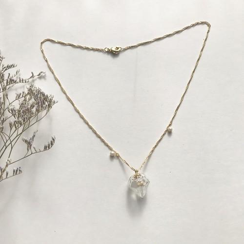 ダイヤ型ガラスドームのネックレス(3)