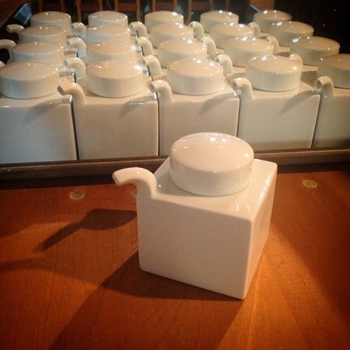 白山陶器 / 角型しょうゆさし