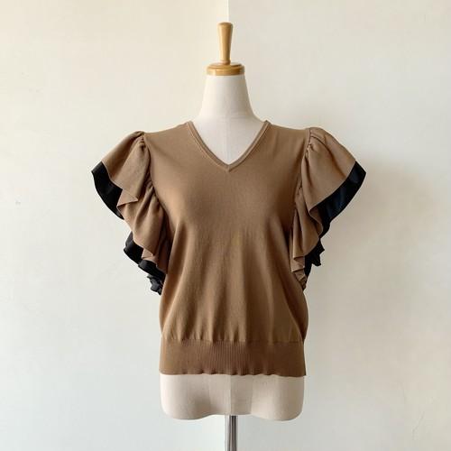 Double Standard Clothing×akko3839 レイヤードフリルスリーブニット 0509190213