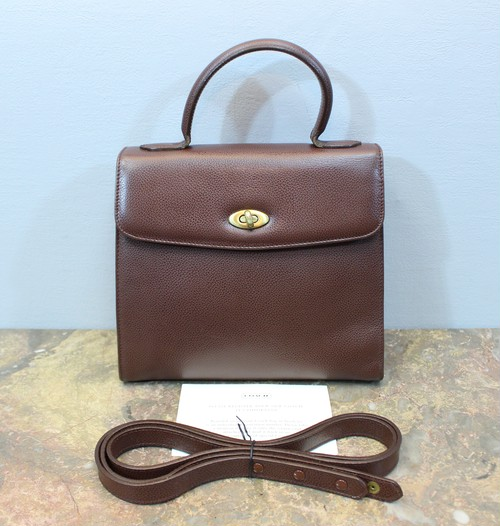 .OLD COACH TURN LOCK 2WAY LEATHER SHOULDER BAG MADE IN ITALY/オールドコーチターンロック2wayレザーショルダーバッグ 2000000031965