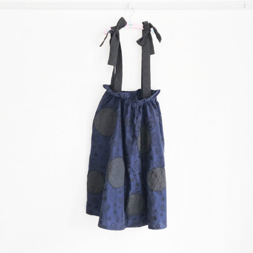 EYE CUT JQ UNEVEN DOTS STRAP SKIRT / WOMEN