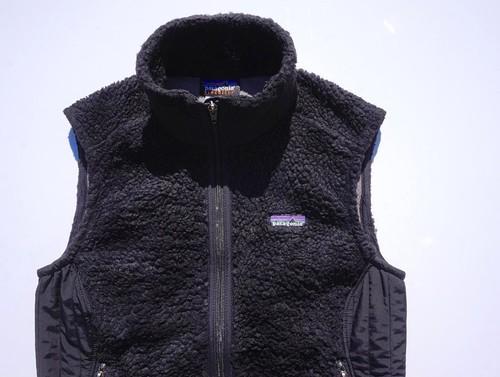 '08年製 [patagonia] W's レトロX フリースベスト ブラック 表記(women's M) パタゴニア
