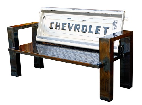 CHEVROLET STEP SIDE BED TAILGATE BENCH 【IRON】