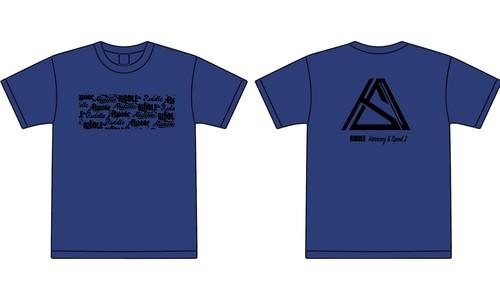 RIDDLE legendary logo T-shirt ロイヤルブルー