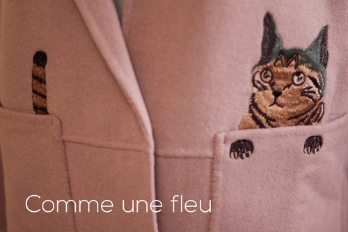 大人可愛いコート INTERDEE インターディー PARIS パリスタイル 大人可愛い人気の猫コート