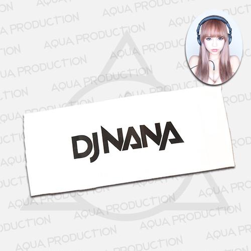 DJ NANA ロゴフェイスタオル