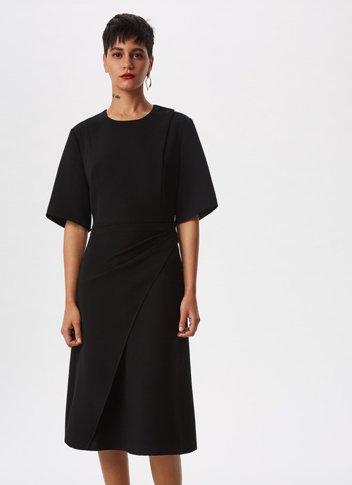MIDI DRESS WITH SHOULDER CLASPS