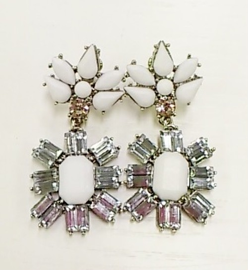 Color Stone Mix Earring