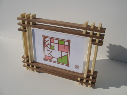 フォトフレーム(3連)kumiko photo frames ( a three )