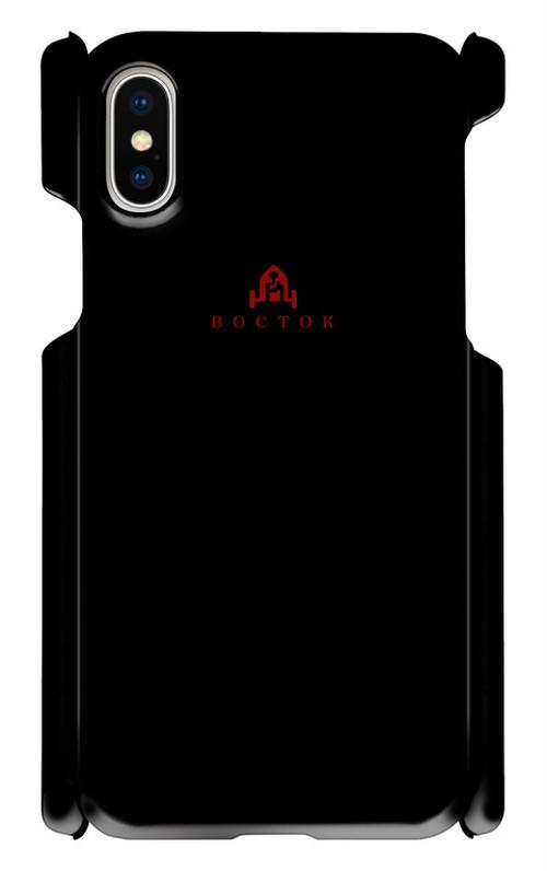 востокロゴ入りスマホケース【iPhone X】【黒】