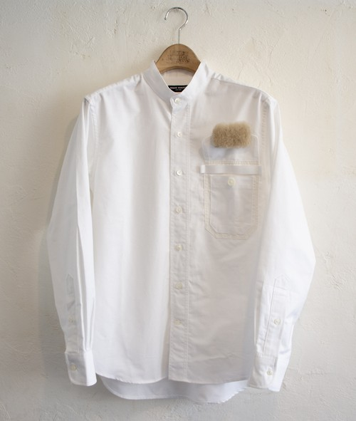 BAND-COLLAR SHIRT WHITE OX