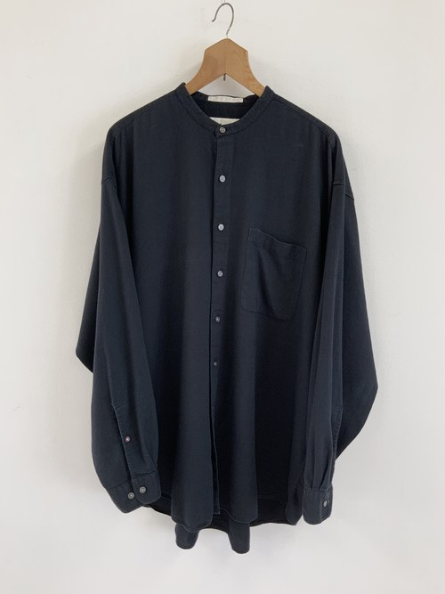 PERRY ELLIS No Collar Rayon Shirt