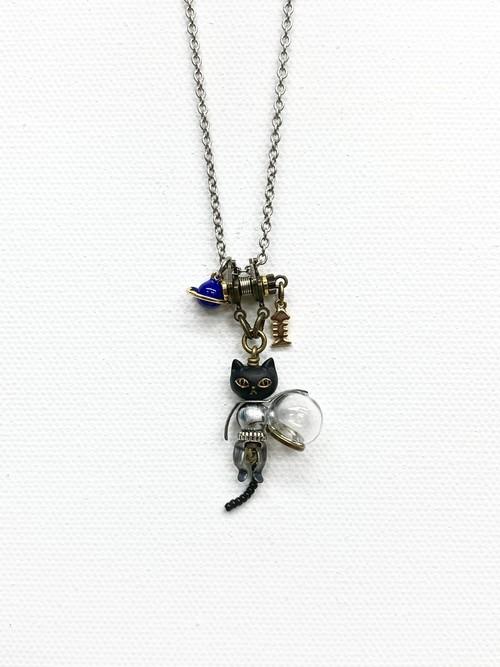 【ギベオン隕石を使用 宇宙猫ネックレス(期間限定価格)】