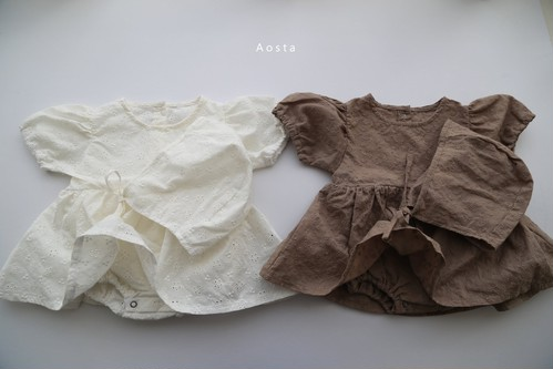 =sold out= Elena bodyーsuit【baby】with bonnet