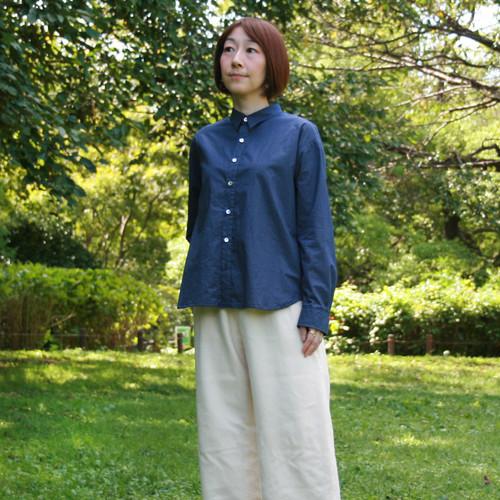 BL-251 オーガニックコットン水玉プリントKotori刺繍 シャツ&カシュクールシャツ