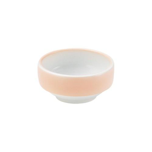 【1711-2740】強化磁器 9cm すくいやすい食器 ぼかしオレンジ