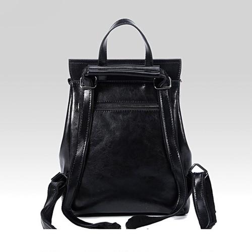 Leather Backpack Vintage Leather Backpack Shoulder Bag ショルダーバッグ レザー バックパック リュック 天然 ビンテージ (HF99-9671572)
