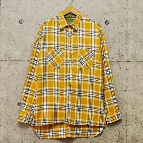 フランネル ロングテールチェックシャツ 【ブライトイエロー】 《MTL6-15》
