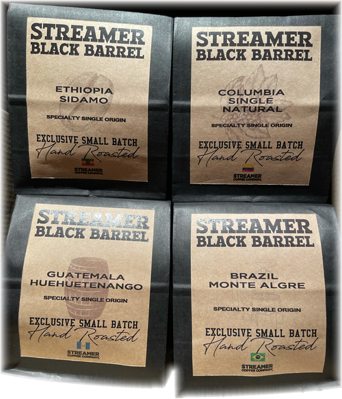 STREAMER BLACK BARREL - SPECIALTY SINGLE ORIGIN FOURSOME BOX