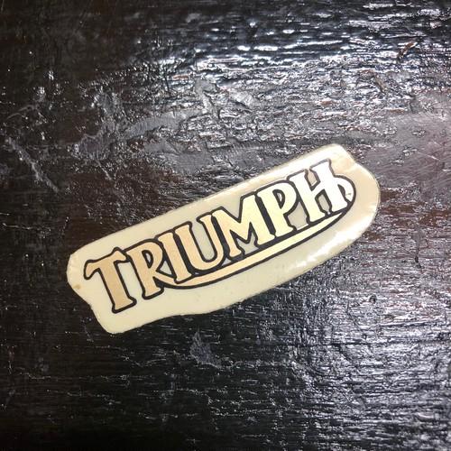 TRIUMPH トライアンフ 当時物 ビンテージ ステッカー 英車 英国車
