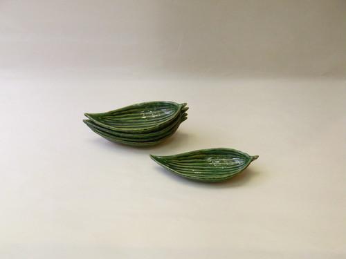 美濃焼 織部 木の葉皿 5枚組