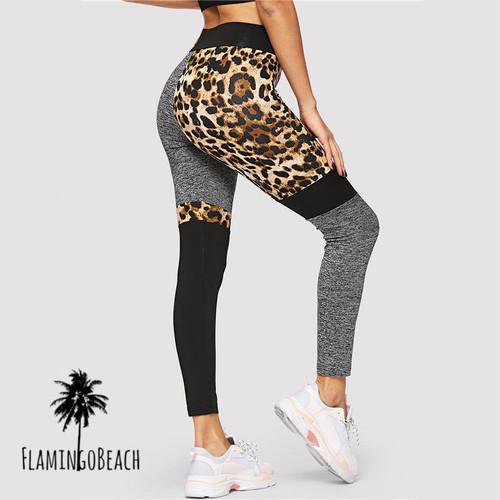 【FlamingoBeach】leopard leggings レギンス