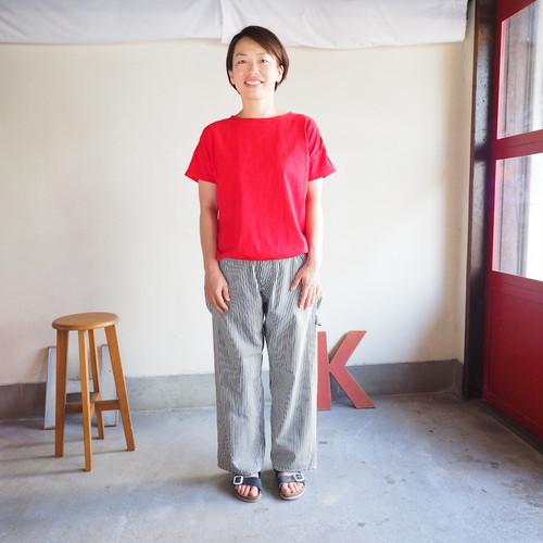 Girl's天竺 裾バインダー 半袖Tシャツ 11C26 サイズ2、サイズ3