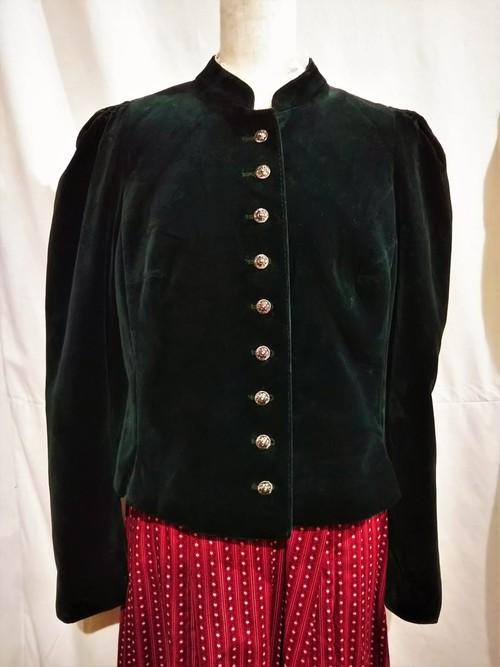 Vintage cotton velour tyrolean jacket [O-415]