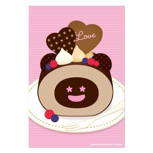 Dぼうポストカード ロールケーキ